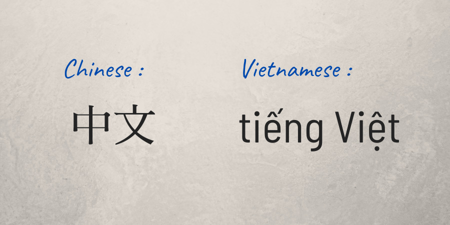 written Chinese compared to Vietnamese